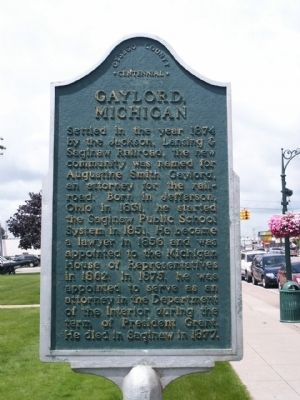 Gaylord, Michigan Marker image. Click for full size.