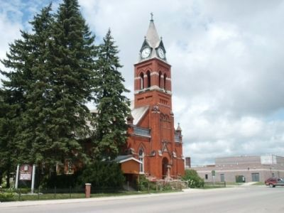 St. Mary's Catholic Church and Marker - from the southeast image. Click for full size.
