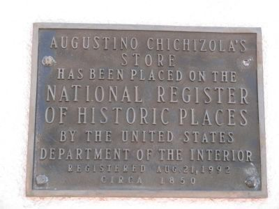 A. Chichizola Store NRHP Plaque image. Click for full size.