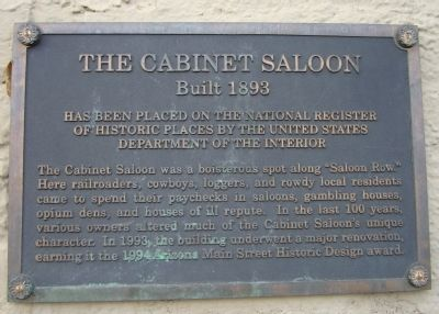 The Cabinet Saloon Marker image. Click for full size.