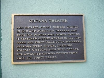 Sultana Theater Marker image. Click for full size.