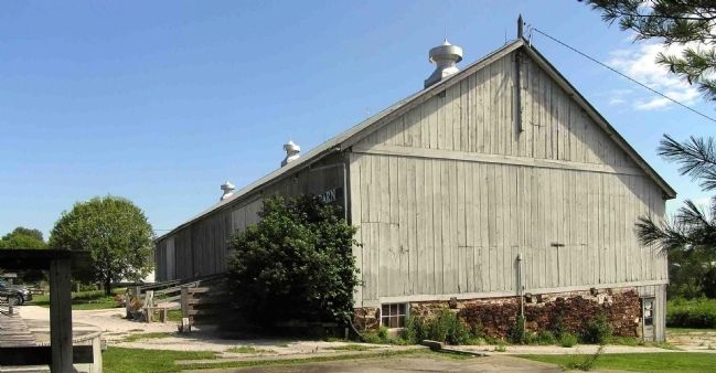 The Festhalle Barn in the village of Amana image. Click for full size.
