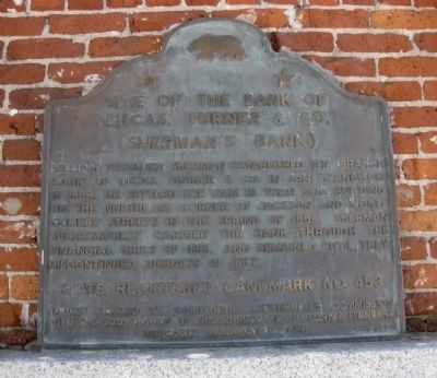 Site of the Bank of Lucas, Turner & Co. Marker image. Click for full size.