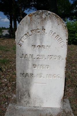 Sterling Rex Barnes Headstone image. Click for full size.