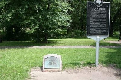 Camp Ford Marker and additional 1936 Camp Ford Marker image. Click for full size.