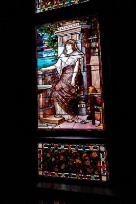 Glenmont - One of the many stained glass windows on the house image. Click for full size.