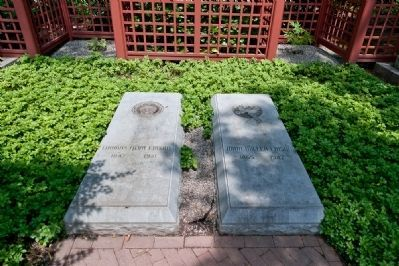 Edison and His Wife's Gravesites Are Located in the Backyard of the Estate image. Click for full size.