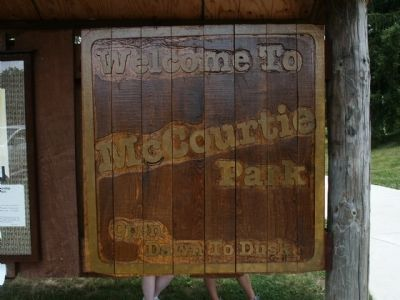 McCourtie Park Welcome Sign image. Click for full size.