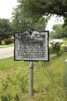 Alexander S. Salley Marker, looking west along Belleville Road (State Road 38-29) Photo, Click for full size