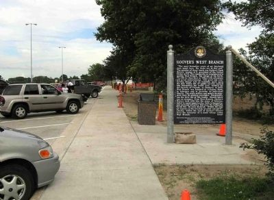 Wide view of the Hoover Historic Site / Hoover's West Branch Marker image. Click for full size.