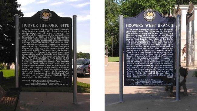 Hoover Historic Site / Hoover�s West Branch Marker image. Click for full size.