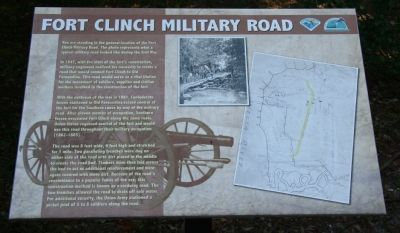 Fort Clinch Military Road Marker Photo, Click for full size