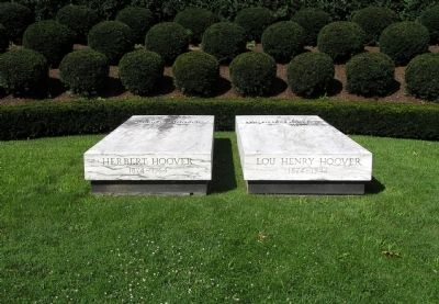 The graves of President and Mrs. Hoover image. Click for full size.