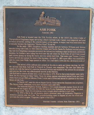 Ash Fork Marker Photo, Click for full size