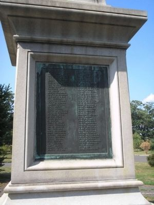 Veteran Plaque on Left of Monument Photo, Click for full size