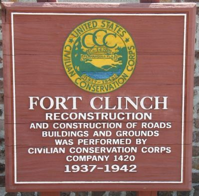 Fort Clinch Marker image. Click for full size.