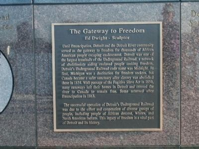 The Gateway to Freedom Marker image. Click for full size.