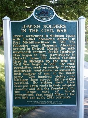 Jewish Soldiers in the Civil War Marker Photo, Click for full size