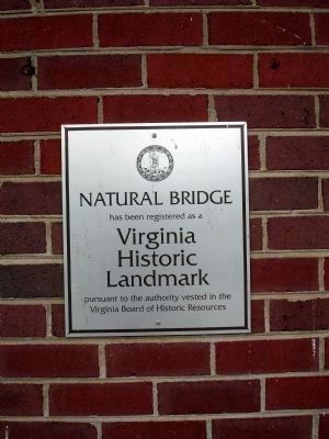 Plaque at the Natural Bridge Visitor Center image. Click for full size.