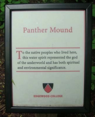 Panther Mound Marker image. Click for full size.