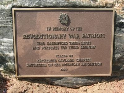 Bristol Revolutionary War Plaque image. Click for full size.