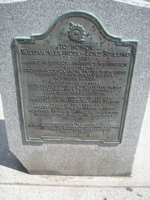 William Alexander – Lord Stirling Marker image. Click for full size.