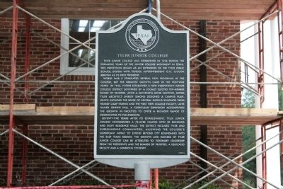 Tyler Junior College Marker Photo, Click for full size
