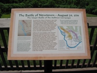 The Battle of Newtown Marker image. Click for full size.