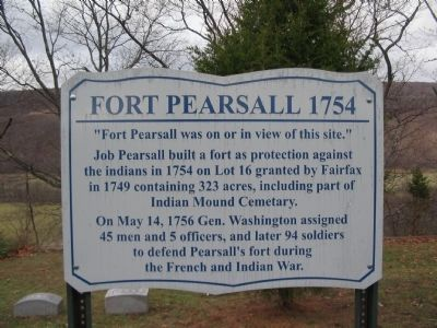 Fort Pearsall 1754 Marker image. Click for full size.