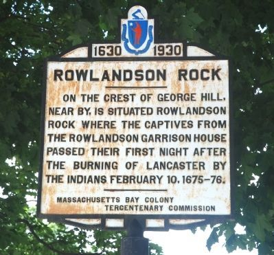 Rowlandson Rock Marker Photo, Click for full size