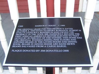 Gassoway House Marker image. Click for full size.