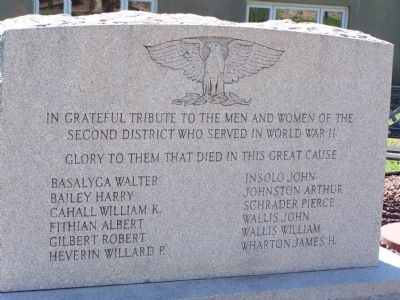 World War II Monument Marker image. Click for full size.
