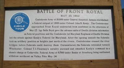 Battle of Front Royal Marker Photo, Click for full size