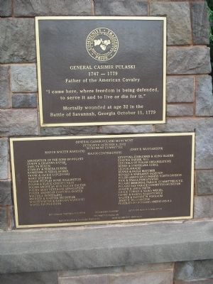 Marker and Dedication Plaque image. Click for full size.