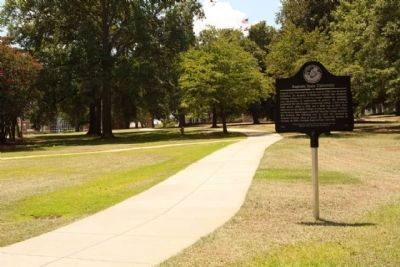 "Augusta State University Marker, in "" The Grove"". Reese Library seen at left background image. Click for full size."
