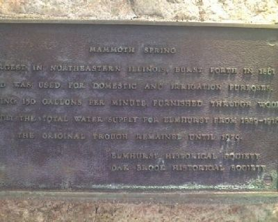 Mammoth Spring Marker Photo, Click for full size