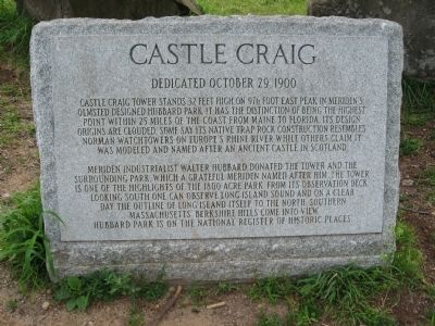 Castle Craig Marker Photo, Click for full size