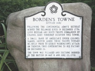 Borden's Towne Marker image. Click for full size.