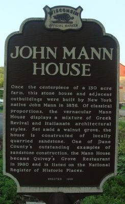 John Mann House Marker Photo, Click for full size