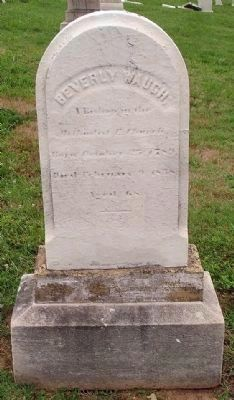 Gravestones of Bishop Waugh, in the Mt. Olivet Cemetery image. Click for full size.