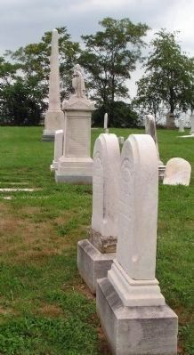 Gravestones of Bishop Beverly Waugh and his wife Catherine image. Click for full size.