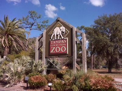 Tampa's Lowry Park Zoo entrance image. Click for full size.