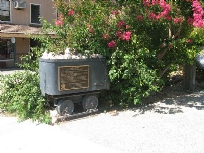 Jamestown Marker and Mine-Car Photo, Click for full size
