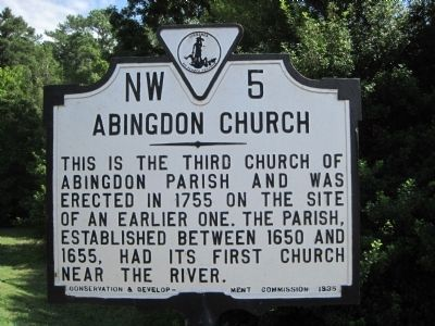 Abingdon Church Marker Photo, Click for full size