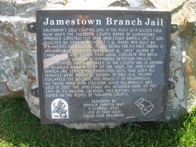 Jamestown Branch Jail Marker image. Click for full size.