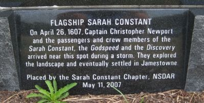 Flagship Sarah Constant Marker image. Click for full size.