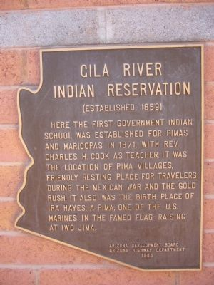 Gila River Indian Reservation Marker Photo, Click for full size