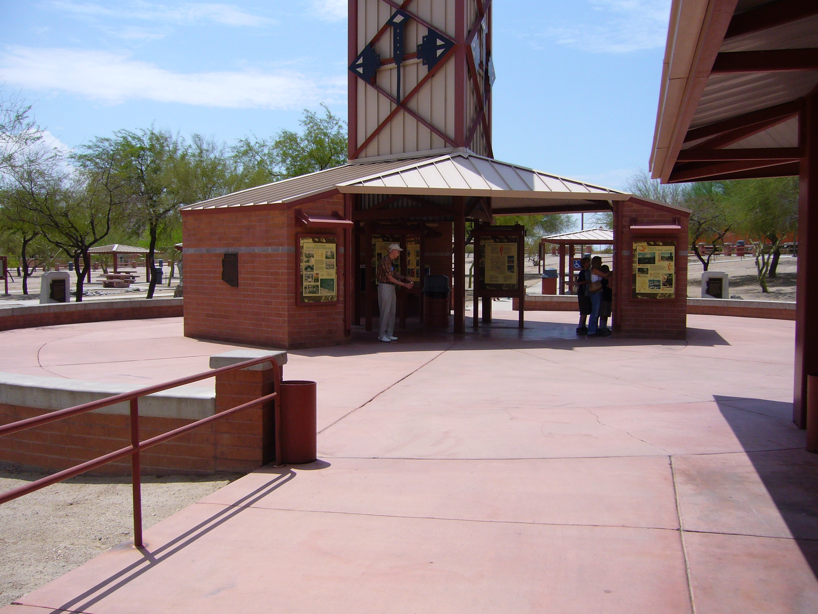 Sacaton Rest Area on I-10 Westbound.
