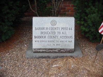 Barbour County Korean War Memorial image. Click for full size.