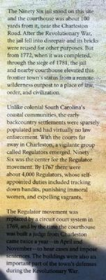 Law and Order in the Carolina Backcountry Marker image. Click for full size.